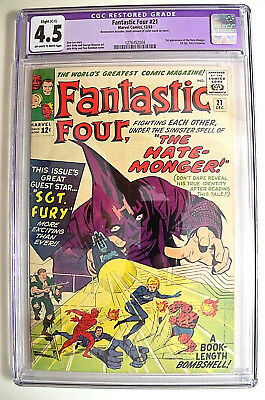 Fantastic Four # 21 CGC 4.5 (Slight C-1)