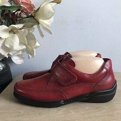 Gorgeous Ladies ROHDE Red Leather Casual Comfort Shoe Size 6 NEW!!
