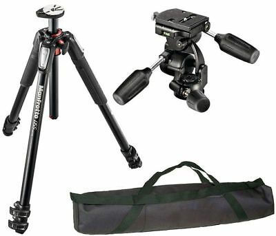 Manfrotto MT055XPRO3 Aluminium 3-SecTripod + 3-Way Head + Quick Release Plate