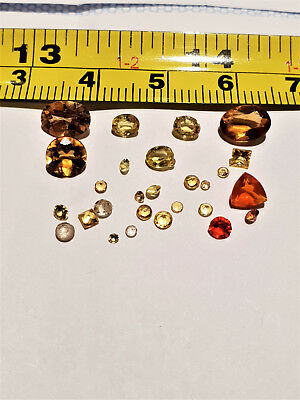 Loose Gemstones Removed From Scrap Jewellery Yellow And Orange  5 Days