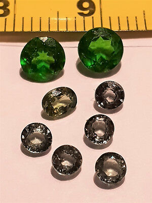 Loose Gemstones Removed From Scrap Jewellery Greens Dark And Light 5 Days