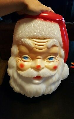 "Santa Blow Mold Face 18"" Tall 14"" Wide No Light"