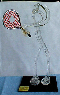 Vtg Tennis Player W/ Racket Figurine Abstract Art Unique Hand Formed Sculpture