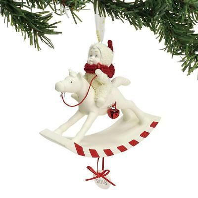 Dept 56 Snowbabies New 2018 DATED PEPPERMINT PONY Snowbaby Ornament 6001888 BNIB