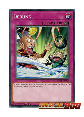 YUGIOH x 3 Debunk - SDPL-EN039 - Common - 1st Edition Near Mint
