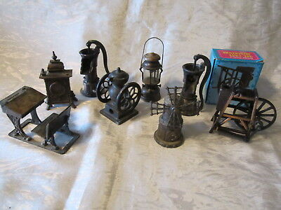 Vintage miniature die cast metal Pencil Sharpeners Collection Lot Of 8 total
