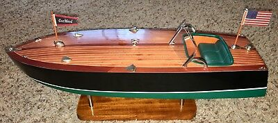 NIB Lilliput Motor Company Garwood Speedster USA Wooden Boat Model 21""