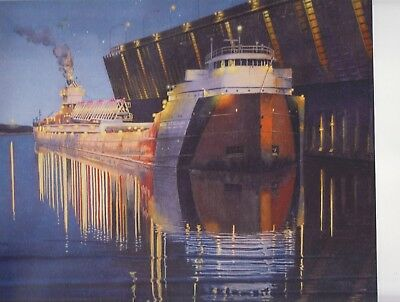 "Great Lakes Freighter ""CASON J. CALLAWAY"" Limited Edition Print by Ed Labernik"