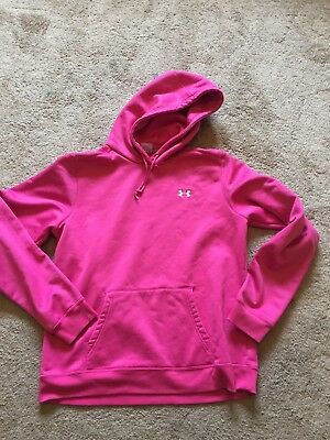 GOOD USED CONDITION Women's Pink UNDER ARMOUR Hoodie Size XL
