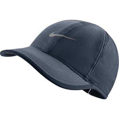 b0917e9dcce81d NIKE Womens WS Featherlight Dri-FIT Cap Hat Running, Tennis Dark Gray  679424-