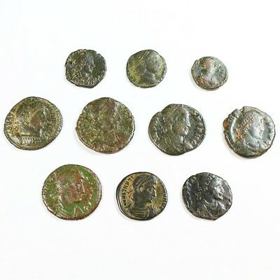 Ten (10) Nicer Ancient Roman Coins c. 100 - 375 A.D. Exact Lot Shown rm2882