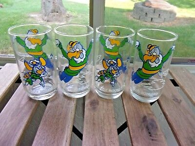 Vintage SPACE MOUSE / BUZZ BUZZARD LOT OF 4 COLLECTOR GLASS TUMBLER WALTER LANCE