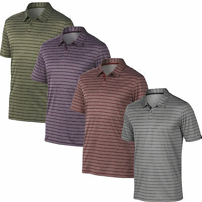 New Oakley Golf 2017 Top Stripe Polo 433741