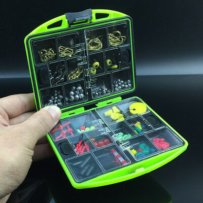 Fishing Tool Set Lure Bait Hook Tackle Box Storage Case With 24 Compartments CN