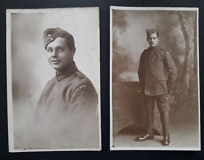 ROYAL FLYING CORPS WW1 Soldier in uniform, 2 x postcards