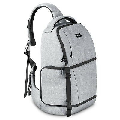 Neewer Grey Sling Camera Bag - Camera Case Backpack for Nikon Canon Sony Pentax