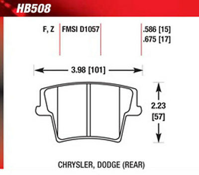 Magnum 1508022 Hawk Performance Ceramic Brake Pads Front And Rear For Charger