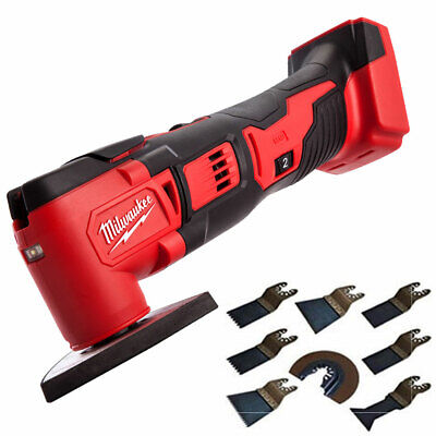 Milwaukee M18BMT-0 M18 18V Compact Multi Tool Body With 8Pcs Accessories Set
