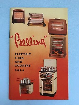 VTG 1955 Belling Electric Fires & Cookers Catalogue Brochure Colour Pictures