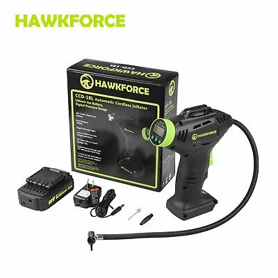 HAWKFORCE 18V Rechargeable Cordless Air Compressor Tire Tyre Inflator Pump AU