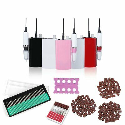 801 Electric Rechargeable Cordless Nail Art Drill File Manicure Machine 150 Band