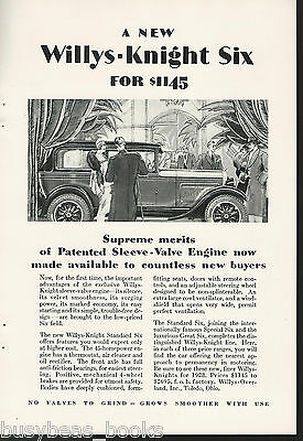 1928 WILLYS-KNIGHT advertisement, WILLYS Overland  coupe
