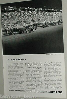 1945 Boeing Aircraft ad B-29 Superfortress factory view