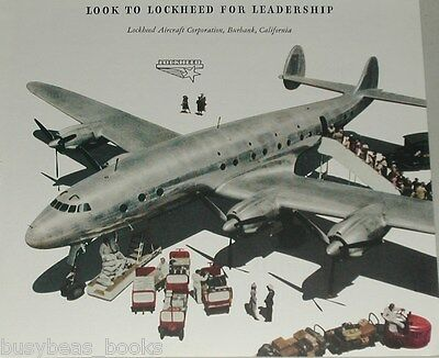 1945 Lockheed Constellation  advert, with Fairchild C-82 Packet ad on reverse