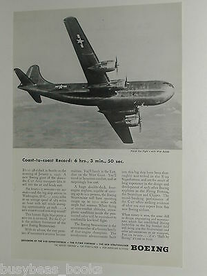 1945 Boeing Aircraft ad, C-97 Transport, Stratocruiser