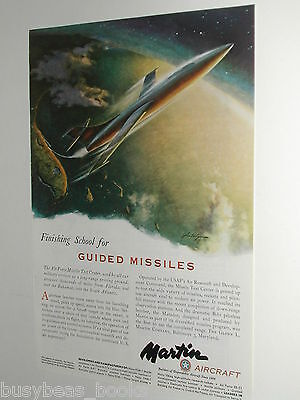 1951 MARTIN AIRCRAFT advertisement, Guided Missile Rocket Florida from space