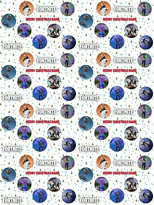 Fortnite Personalised Christmas Gift Wrapping Paper ADD NAME/S CHOOSE BACKGROUND