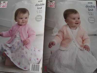"""King Cole 5258 Baby/Child's Cardigans DK Knitting Pattern Sizes 16-26"""""""