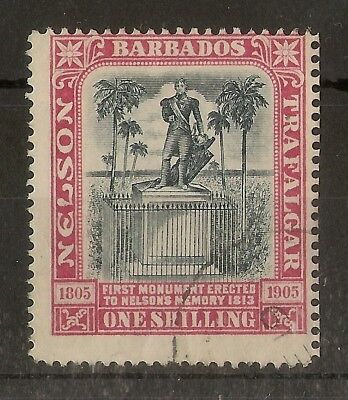 Barbados 1906 1/- Nelson SG151 Fine Used Cat£50