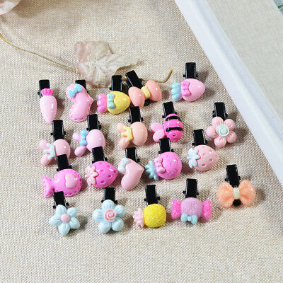 A Box of 20pcs Hair Claw Clips Baby Girls Jaw Clamp Clips Cartoon Hair Clips