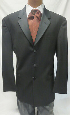 Mens Claiborne 100% Wool Tuxedo Jacket Theater Costume Steampunk Victorian Look