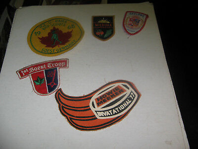 1968 ICE-O-RAMA BOY-SCOUTS PATCH/BADGE SOEST,GERMANY &1st SOEST PATCH & 3 BONUS