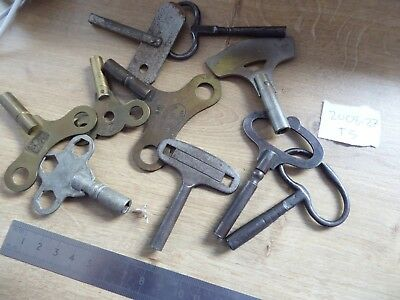 10 Vintage    Clock Keys For A Clockmaker