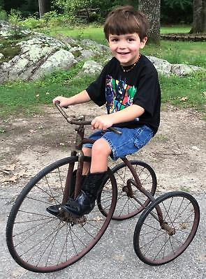 Large Antique 1920s Barn Fresh, Columbia Boycycle Tricycle Bicycle, Unrestored!