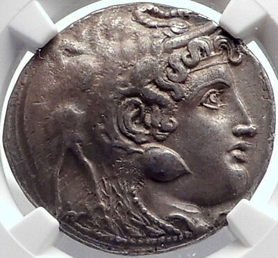 PTOLEMY I Soter Egypt  Silver Tetradrachm Greek Coin w ALEXANDER the GREAT NGC
