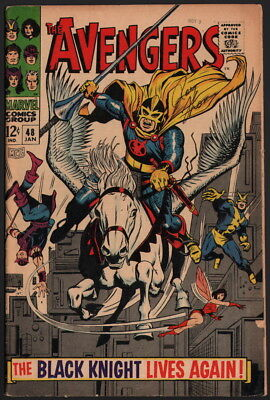 Avengers #48 SIGNED by Roy Thomas ~ 1st App New Black Knight George Tuska Art