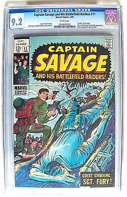 Captain Savage and His Battlefield Raiders # 11 CGC 9.2