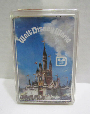 WALT DISNEY WORLD SOUVENIR PLAYING CARDS COMPLETE DECK IN CASE VINTAGE 70's 80's