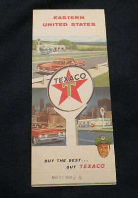 1962 Texaco Eastern United States highway map very good condition
