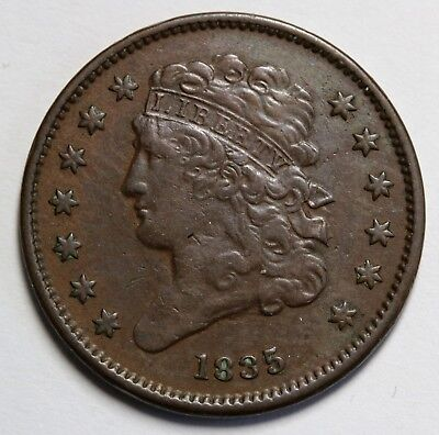 1835 US Classic Head Half Cent KM# 41  398,000 Minted RARE Coin EF