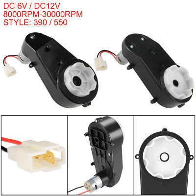 390/550 Engine Gear Box Motor DC6V/DC12V 8000-30000RPM for Electric Ride on Car