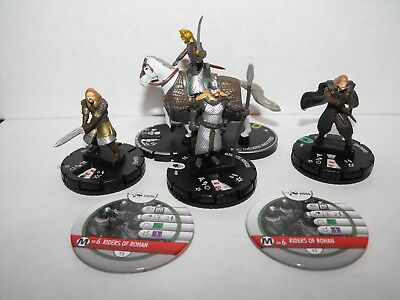 Heroclix Lord Of The Rings Rohirrim Lot With King Theoden And Steed + Tokens