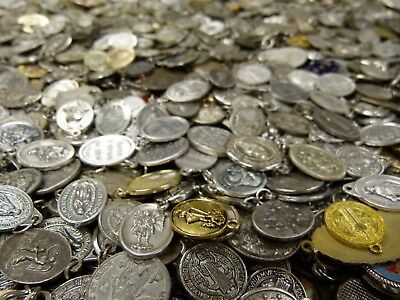 1 Pound Lot of Religious Medals and  Medallions