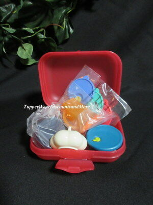 Tupperware NEW Mini Kit Oyster Case Pitcher Garlic Vent CrystalWave Magnets #12