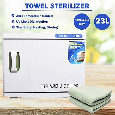 UV Towel Sterilizer Warmer Cabinet Disinfection Heater Hot Hotel Salon 16L 23L
