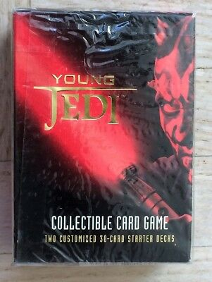 NEW Star Wars Young Jedi Collectible Card Game 2 Starter Decks FACTORY SEALED